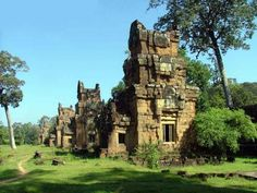 The Mysteries Of Prasat Suor Prat, near Angkor Wat Cambodia Travel, Angkor Wat, Temples, Mystery, Mansions, House Styles, Temple, Villas, Palaces