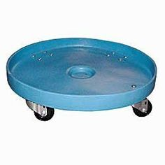 "Dixie Poly D-24-55 Plastic Drum Dolly for 55 gallon Drum, 600 lbs Capacity, 24.5"" Diameter x 6.5"" Height, Blue by Dixie Poly Drum. $76.97. Plastic dollie with 4 swivle caster for a 55 gal drum"