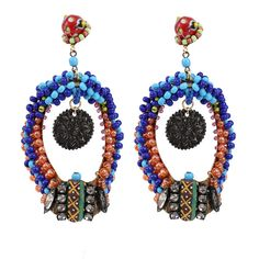 ERICKSON BEAMON Fashion Tribe Earrings ($480) ❤ liked on Polyvore featuring mens, men's jewelry, earrings, jewelry, accessories e blue