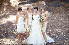 Cream bridesmaids