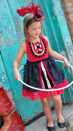 Alvivi Kids Baby Girls Circus Ringmaster Costume Bowtie Romper Bodysuit Tail Coat for Halloween Cosplay Party Dress up