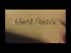 title card from Almost Famous (2000), directed by Cameron Crowe