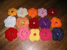 Action Hero : : Knitting Weblog: Crocheted Flower Pattern
