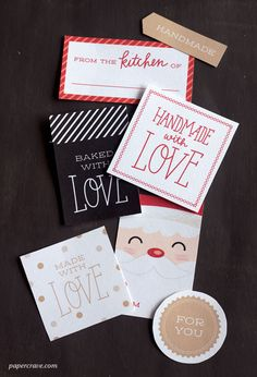 DIY: Free printable gift tags for handmade food gifts.