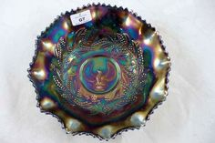 Australian Carnival glass bowl