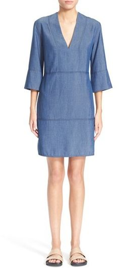 Vince Chambray Shift Dress