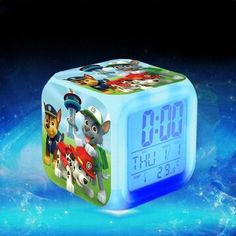 Alarm Clock with LED Cartoon Game Action Toy Figures Night Light Wekker Electronic Toys Relogio Despertador Digital Alarm Clock