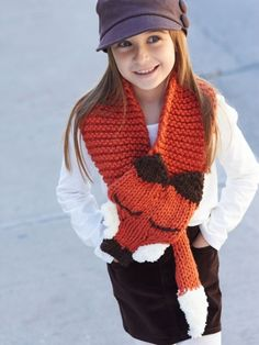 Like a Fox! Scarf | Free Knitting Patterns |  Yarnspirations