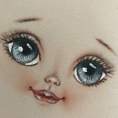 - Her Crochet Eye Painting, Doll Painting, Fabric Painting, Sock Monkey Pattern, Doll Face Paint, Eyes Artwork, Doll Eyes, Sewing Dolls, Doll Repaint