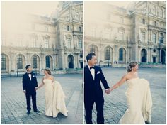 romantic #wedding #Paris #Louvre