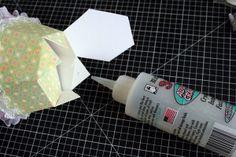 Cupcake Shaped Papercraft Box Template | Kelleigh Ratzlaff Designs