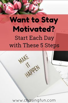 We all have goals we would like to meet and the only barrier to reaching them seems to be a lack of motivation. If you stay motivated, you can accomplish almost anything! Looking to stock up on motivation? Start each day with these five steps. Health And Fitness Tips, Health And Wellness, Health Tips, Wellness Tips, Women's Health, Healthy Weight Loss, Weight Loss Tips, Women's Mental Health, Healthy Lifestyle
