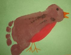Footprint Robins! @Emily Schoenfeld Hogan, look at this! This would be a PERFECT daycare craft for spring. :)
