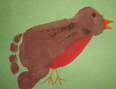 Footprint Robin... great spring craft for Ben :)