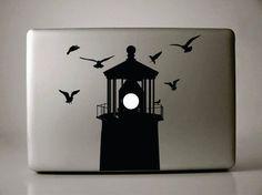 MacBook Lighthouse Vinyl Decal by VinyleMontreal on Etsy, $12.48
