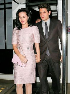 Looking sharp! Katy Perry and John Mayer keep it chic and sleek as they have a romantic date night Saturday in London.