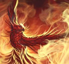 The mythical Phoenix bird inspired the X-Men character of the same name. Fantasy, Fantasy Art, Mythical Creatures, Phoenix Bird, Image, Art, Phoenix Artwork, Phoenix Tattoo, Phoenix Images