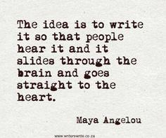 Quotable - Maya Angelou - Writers Write Creative Blog