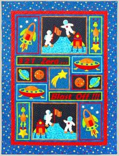 kids quilt patterns   Blast Off - by Kids Quilts - Quilt Pattern - $20.00 : Fabric Patch ...