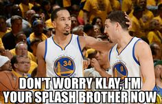 ... While Steph is out with his knee injury ...