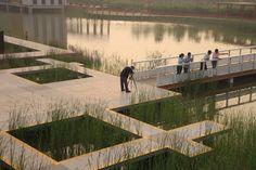 Tianjin Bridged Gardens/Qiao Yuan Park in Tianjin City, China by Turenscape