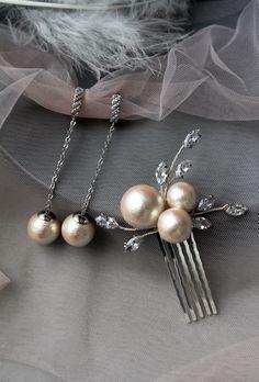 Bridal Comb, Bridal Tiara, Bridal Headpieces, Wedding Earrings, Wedding Jewelry, Boho Headpiece, Hair Grips, Bridal Sets, Vines