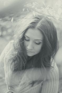 romantic portrait, bw