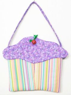 Cupcake Purse cloth gift bag goodie bag treat by KnotAPaperdoll, $12.95