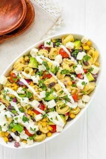 Mexican Tortellini Salad with Crema Dressing
