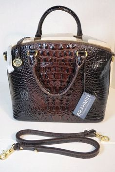 Brahmin Duxbury Cocoa Embossed Leather Tote Bag Purse Satchel K43151 Nwt #Brahmin #TotesShoppers