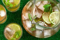 Mint and Lime Iced Tea