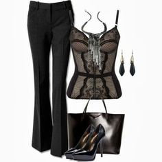 This is the perfect concept for my gray and black lace bustier
