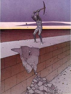 'Moebius' Jean Giraud (b. 1938 - d. Jean Giraud, Illustrations, Illustration Art, Moebius Art, Moebius Comics, Nogent Sur Marne, Bd Art, Ligne Claire, Science Fiction Art