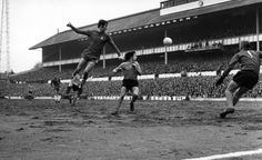 14 March 1970: Chelsea striker PETER OSGOOD heads the ball during a FA Cup semi-final match against Watford at White Hart Lane...