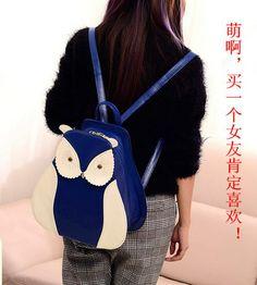 Bolsa das Mulheres coruja Bolsa topo mochila saco de presentes de natal Aniversário dos Desenhos animados