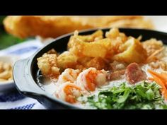 THE ART OF DIM SUM - Sampan Congee (Chinese Rice Porridge) Recipe - She says this is a traditional breakfast dish. I don't know if I would add all the fish flavors. - YouTube
