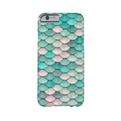 Shiny Fish Scales Effect Pattern Green Pink Barely There iPhone 6 Case (€33) ❤ liked on Polyvore featuring accessories and tech accessories
