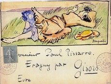 Mail to Paul Pissarro, I wonder who from...