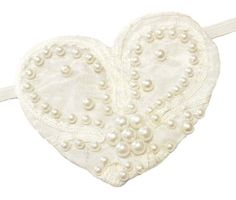 Pearl Romance  Victorian Steampunk Pirate Buccaneer Bridal Wedding Eye Patch  A one of a kind wearable art creation by Jenkitty  This ornate elegant heart shaped eye patch is set on beautiful bright white taffeta material, with lots of fake pearl beads and satin ribbon floral print. This opaque patch has soft felt interior for comfort. For use on either eye.  Has elastic strap for easy wear  Approximate Dimensions Of Patch 3 x 3  Brand New