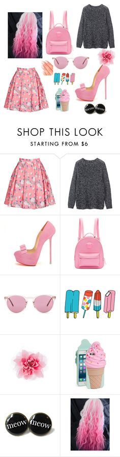 """""""Liza Jane"""" by silverwings7 ❤ liked on Polyvore featuring ERIN Erin Fetherston, Toast, Versace, Oliver Peoples, Tattly, Kate Spade and Elegant Touch"""