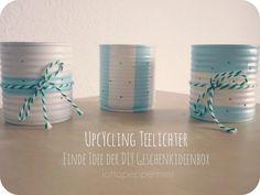 Upcycling Teelichter aus Konservendosen - Eine Idee der DIY Geschenkideenbox