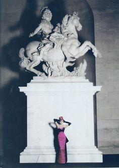 High Fashion by Karl Lagerfeld. Harper's Bazaar Romania (winter 2007/2008). Inspiration is Marie Antoinette. Versailles Garden. Jessica Stam, Snejana Onopka. Fashion Editor: Brana Wolf.