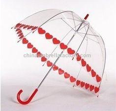 ight Publicidade PVC transparente Umbrella