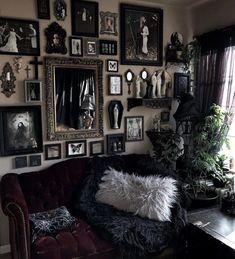 Dark Home Decor, Goth Home Decor, Creepy Home Decor, Gypsy Decor, Gothic Room, Gothic House, Gothic Living Rooms, Victorian Gothic Decor, Gothic Garden