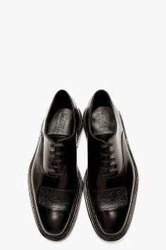 YANG LI Black Half-strap Paneled shoes