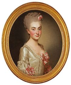 Alexander Roslin: Marie Anne Eléonore la Planquois. The ladys portrait signed Roslin Sued and dated à Paris 1769.