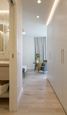 Reforma integral de piso en Donostia | Sube interiorismo Home Bedroom, Sweet Home, New Homes, Loft, Ceiling Lights, Doors, Interior Design, Furniture, Home Decor