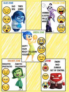 zones of regulation Emotions Preschool, Teaching Emotions, Emotions Activities, Counseling Activities, Preschool Activities, Emotional Regulation, Emotional Development, Inside Out Emotions, Social Emotional Activities