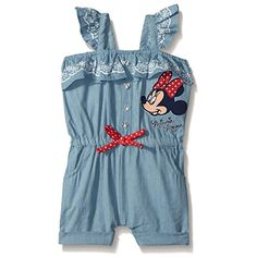 Baby Minnie Mouse Chambray Romper Blue 24 Months >>> Learn more by visiting the image link.