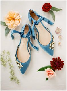 Sole society shoes something blue wedding flats || The Ganeys